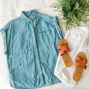 Gap Women Roll Sleeve Denim Shirt